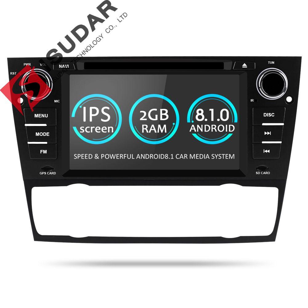 Isudar 1 Din Car Multimedia Player GPS Android 8.1 For BMW/320/328/3 Series E90/E91/E92/E93 DVD Player Radio FM Quad Core 2+16GB