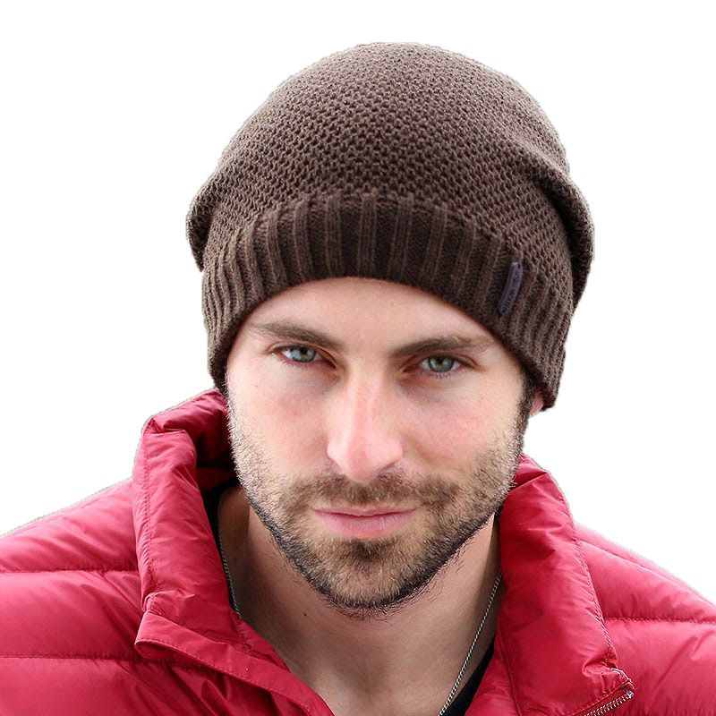 Adofeeno Autumn Winter Hats Knitted Skullies Beanie Hat Solid Gorros Hip Hop Beanies for Men Hats Snow Caps