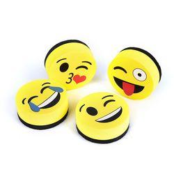 1 unids amarillo sonrisa Cara Borradores de pizarra Tableros magnéticos Gomas de borrar s seque escuela Pizarras Marker Cleaner 4 estilos enviados al azar