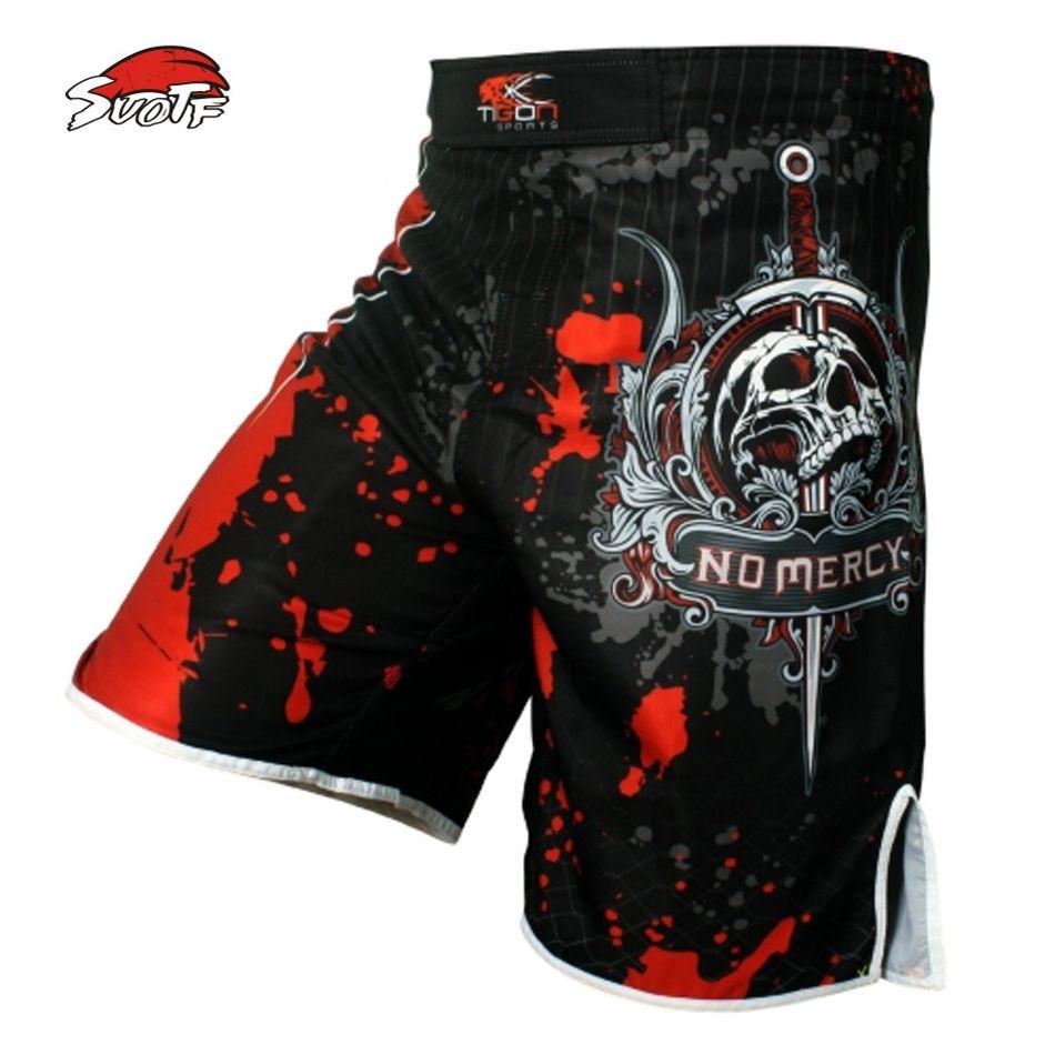 SUOTF Men's skeleton skull cool printing <font><b>head</b></font> wrestling pants muay thai boxing shorts boxing shorts cheap mma shorts muay thai