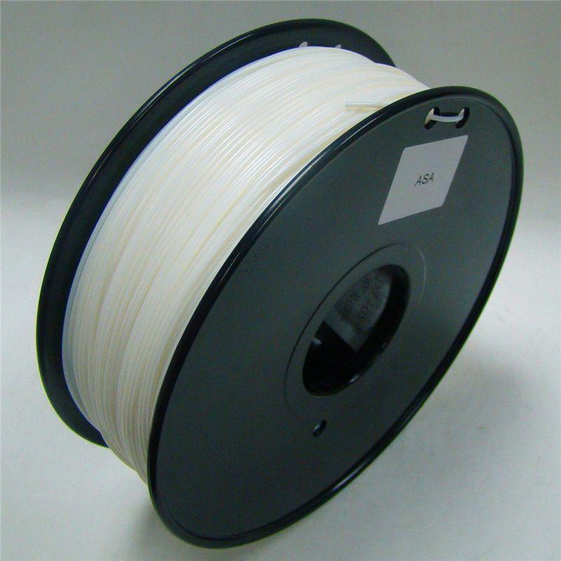 Couleur blanche 3d imprimante filament ASA 1.75mm/3mm 1 kg en plastique Caoutchouc Consommables Matériel MakerBot/RepRap //Mendel