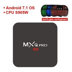 S905W mxq pro Android 7.1 TV box amlogic Quad Core 64Bit Ram 1 GB Rom 8 GB 4 K mxq pro wifi Media playe PK X96MINI