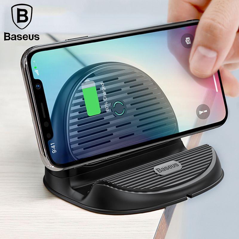 Baseus Desktop QI Wireless Charger 10W Radiating Fan Wireless <font><b>Fast</b></font> charging charger for iPhone X 8 Samsung S9 OnePlus 6 Xiaomi