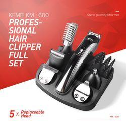 Kemei KM-600 Professionnel Tondeuse À Cheveux Électrique Rasoir Pain Nez Cheveux Coupe tondeuse Ensemble Complet Famille Soins Personnels XJ