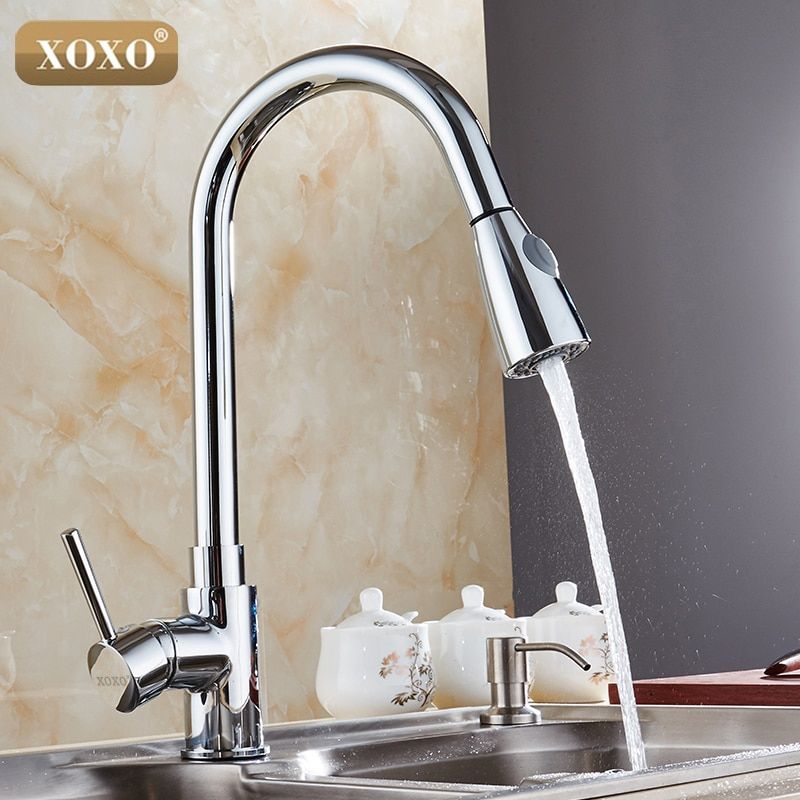 XOXO New design 360 rotating faucet chrome silver swivel kitchen sink Mixer tap kitchen faucet 83011-83011S