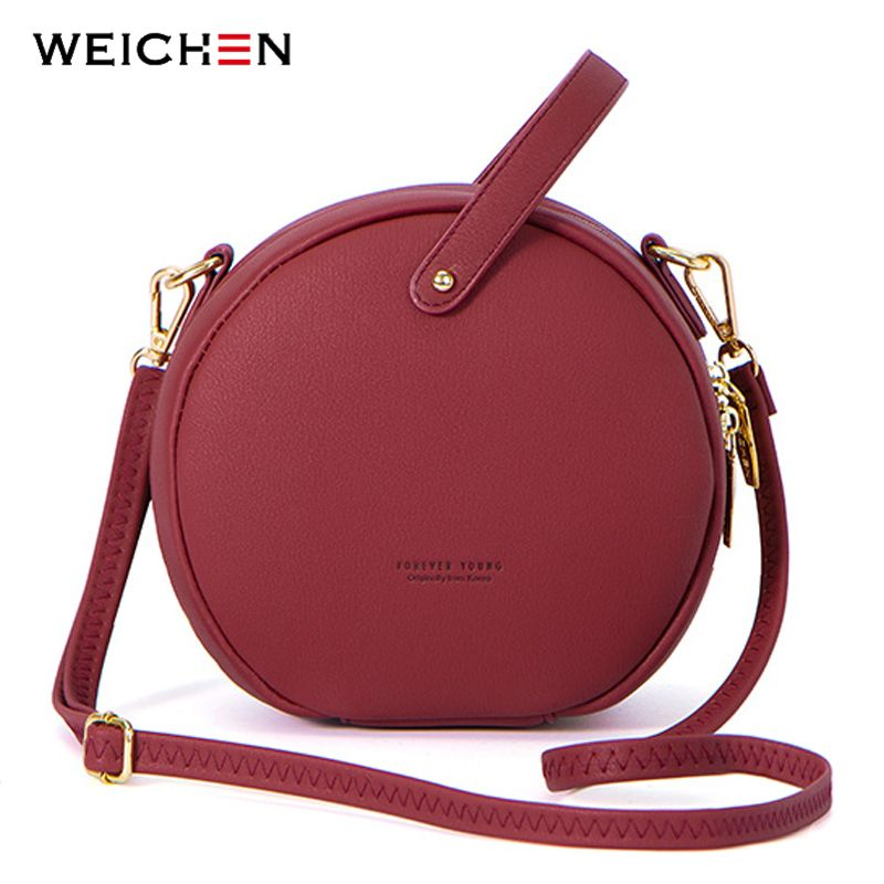 2018 Circular Design Fashion Women Shoulder Bag Leather Women's Crossbody Messenger Bags Ladies Purse Female Round Bolsa Handbag