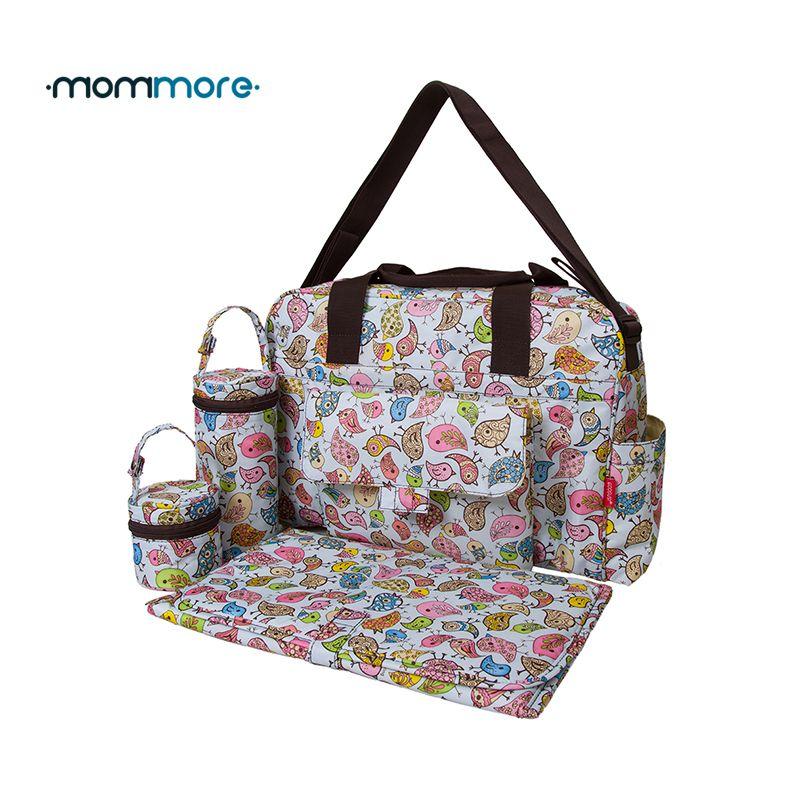 Mommore 5 pcs/ensemble Nappy Sacs Comprend Sac À Couches Matelas à langer Transparen Maman De Maternité Sac Étanche Bébé Poussette Sac
