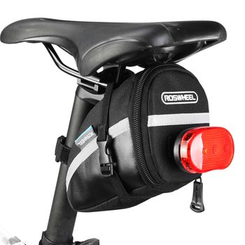 ROSWHEEL 1.2L Portable Waterproof Bike Saddle Bag Cycling Seat Pouch Bicycle Tail bags Rear Pannier Cycling equipment