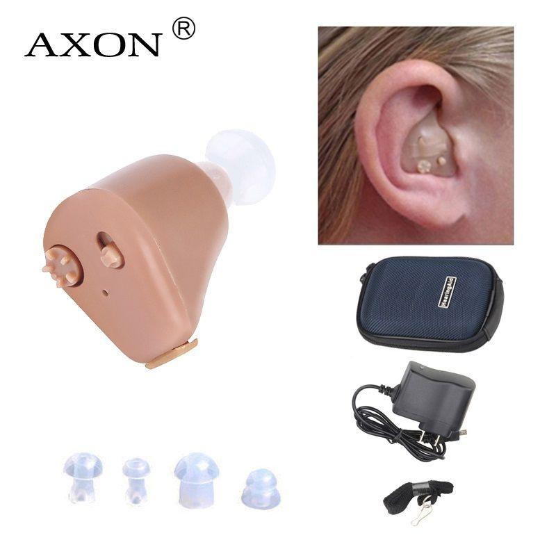 AXON K-88 Aide Auditive Rechargeable Mini Auditifs Son Amplificateur Invisible Entendre Clairement pour les Personnes Âgées Sourds Oreille Soins Outils