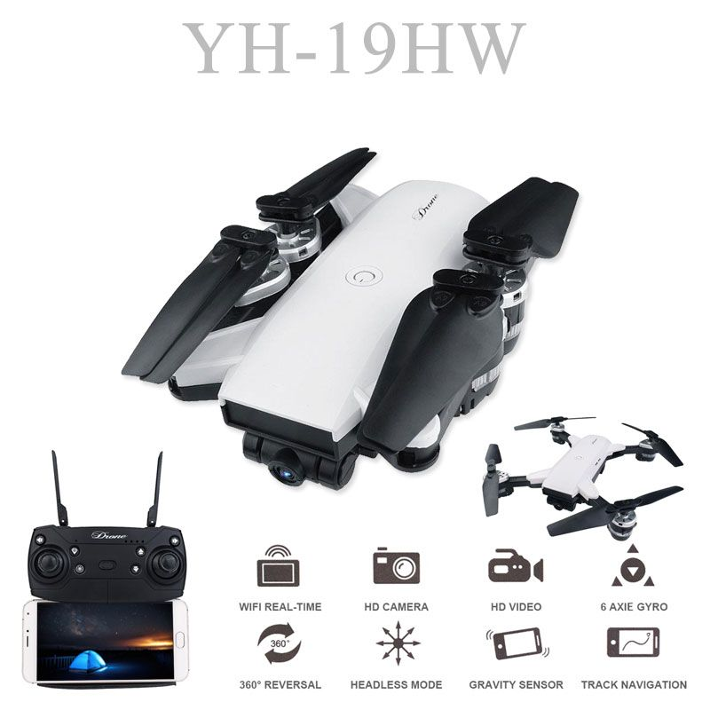 19HW RC Selfie Drone With 0.3mp/2mp HD WIFI FPV Camera 6-Axis RC Helicopter Real Time Quadcopter vs Visuo XS809HW Eachine E58