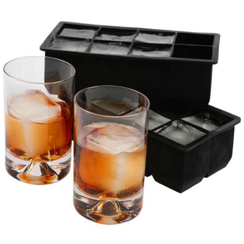 8 большой куб Jumbo большие силиконовые ice cube квадратный поднос Плесень Ice Cube чайник Кухня Интимные аксессуары