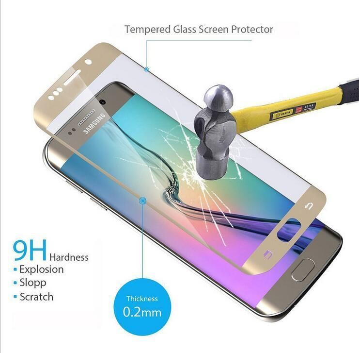 9H Premium 3D Full Coverage tempered Glass Screen Protector film For Samsung Galaxy S8 plus S7 Edge G935 /S6 Edge plus