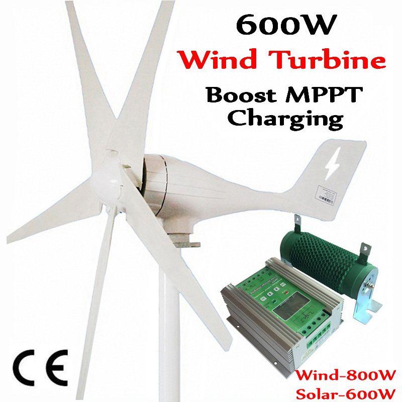 600 W wind generator MAX 830 W wind turbine + 1400 W MPPT hybrid laderegler für 800 W wind turbine generator + 600 W solar panels