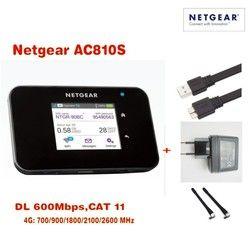 Original Débloqué écran tactile Netgear Aircard AC810S 810 S Cat11 600 Mbps 4GX Avancée III 4G LTE Mobile Hotspot Plus 2 pcs antenn