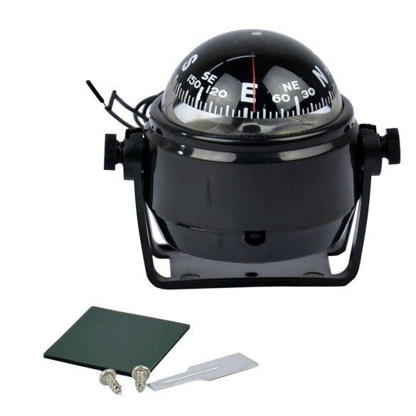 Free Shipping New Sea Marine Electronic Digital Compass Boat Caravan Truck 12V LED Light Black