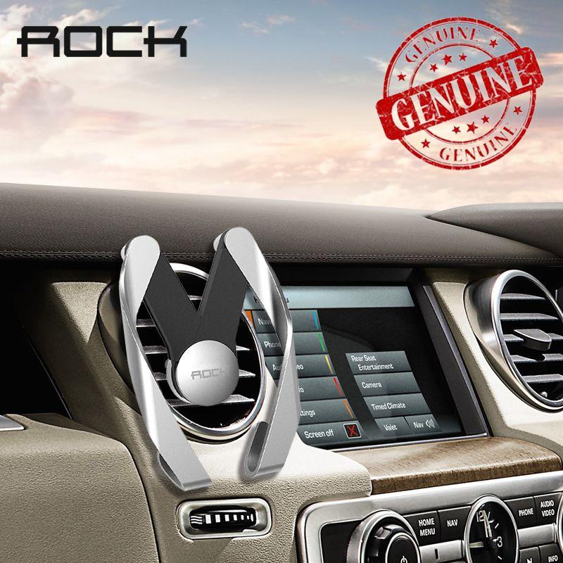 Rock De Voiture Téléphone Mobile Titulaire Air Vent Mount Stand Réglable GPS Support support Pour iPhone 8 7 6 S Plus 5S Pour Samsung S8 Note 8