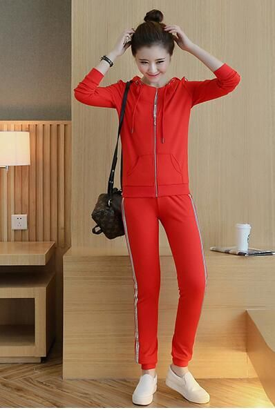 Clothing Set Women Tops And Pants Suit Ladies