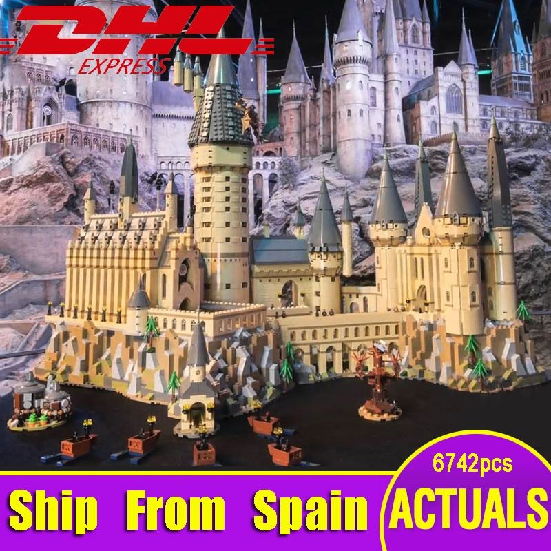 Ship From Spain Lepin 16060 Harry Movie Series The Legoinglys 71043 Hogwarts Castle Set Building Blocks Bricks House Model Toys