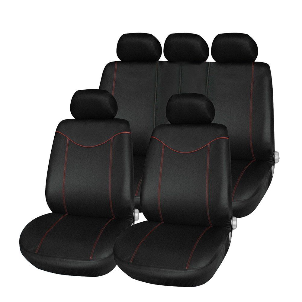 Universal Car Seat Cover Set 11Pcs Seat Covers Front Seat Back Seat Headrest Cover Mesh Black and Gray 5 Styles Optional