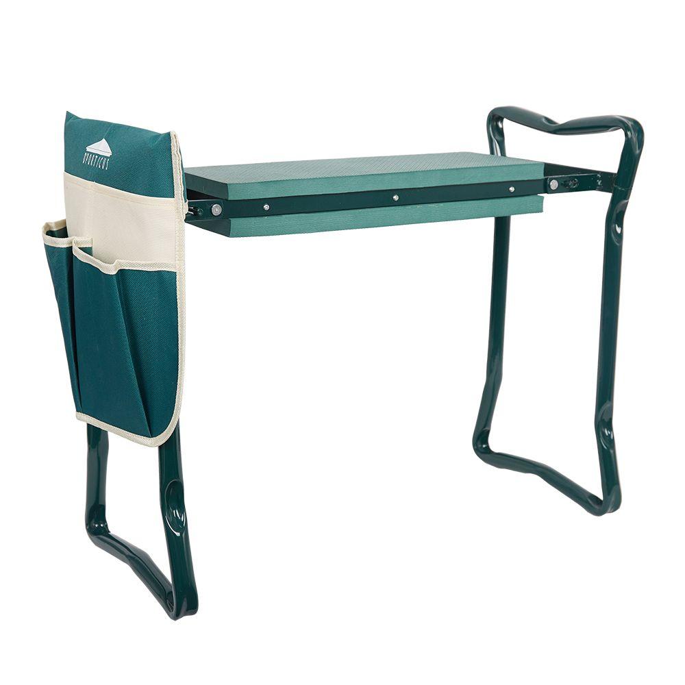 Garden Kneeler with Handles Folding Stainless Steel Garden Stool with EVA Kneeling Pad Gardening Gifts Supply