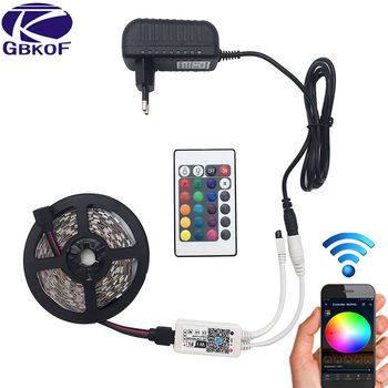 5 M 5050 RGB WIFI Bande led RGB Étanche 10 M 15 M led ruban bande À Distance WIFI Sans Fil Contrôleur 12 V power adapter Kit
