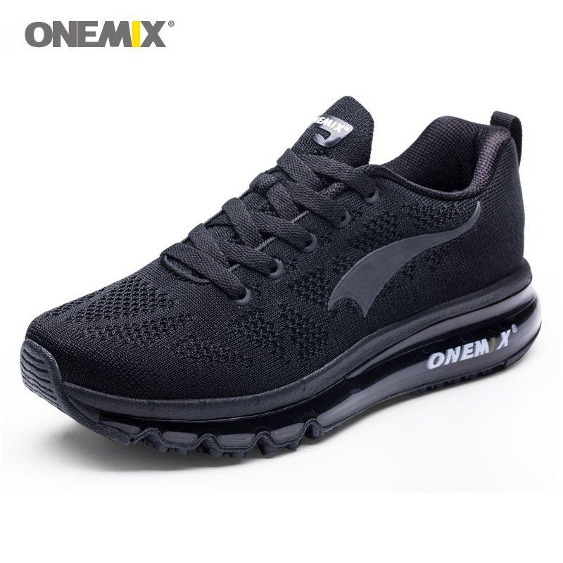 Onemix hommes de sport coussin d'air chaussures de course de 270 hommes sneakers respirant maille chaussures de sport en plein air lumière mâle chaussures max 12