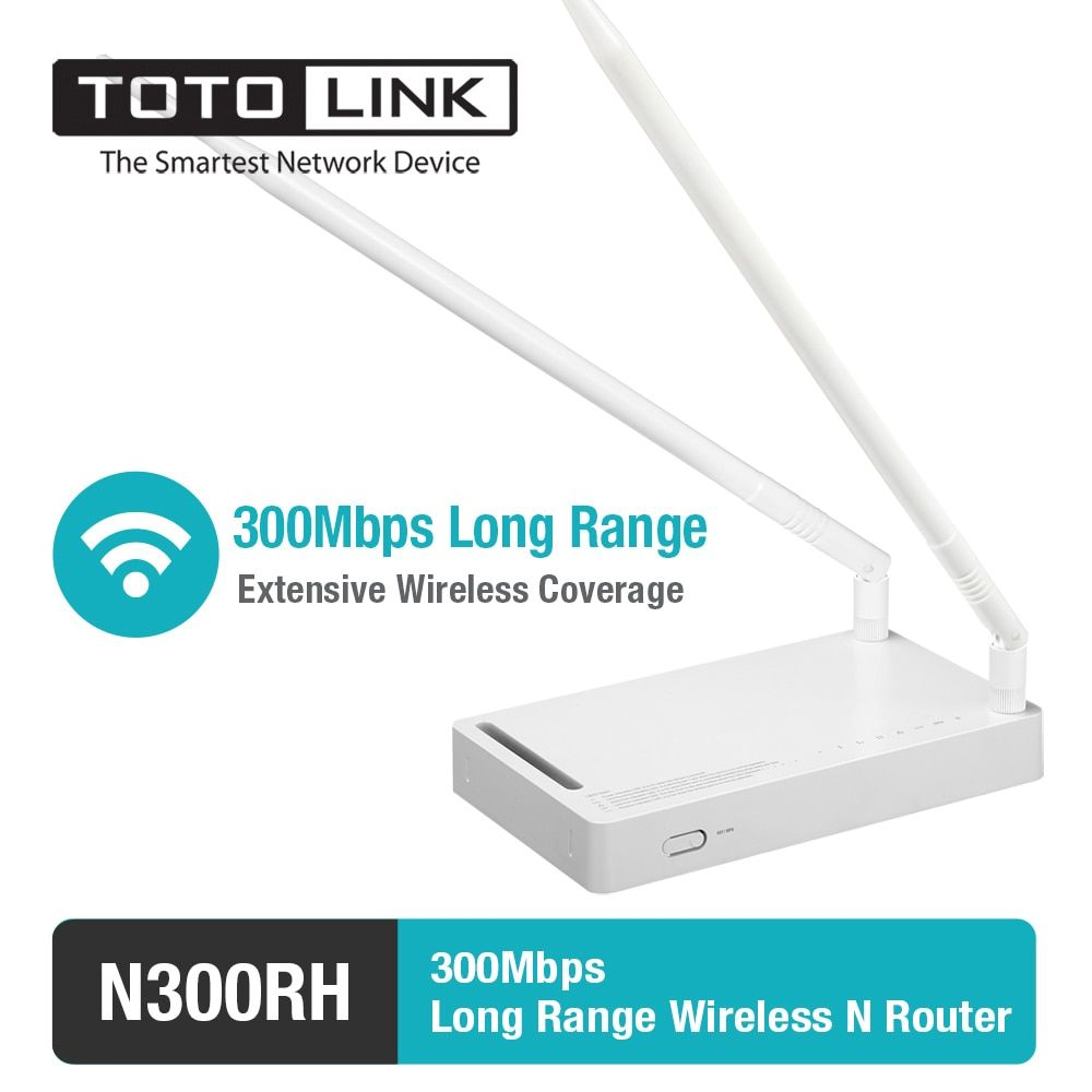 TOTOLINK N300RH 300Mbp Wireless N High Power Long Range Router/Repeater with 2*11dBi Detachable Antenna , English Firmware