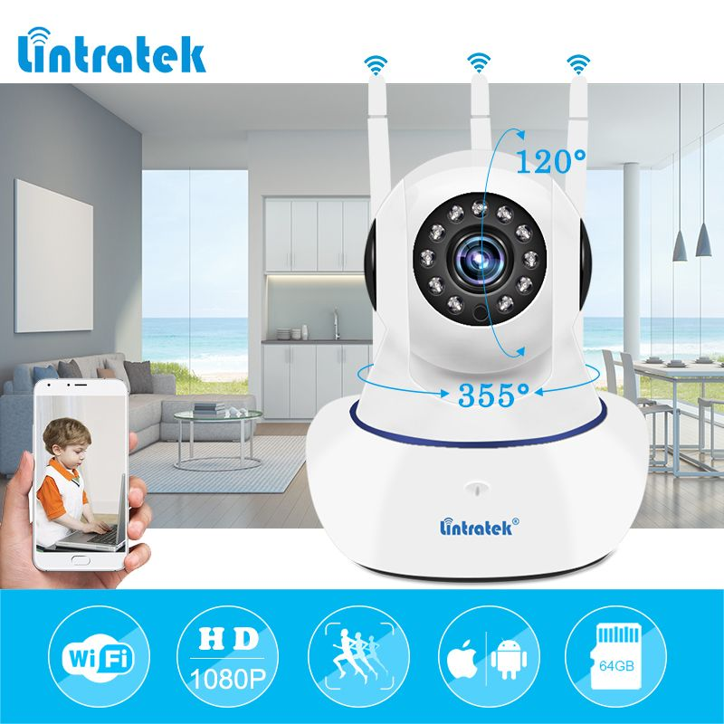 Wireless IP Security wifi Camera 1080P wi-fi Video Surveillance P2P mini CCTV Home Camara <font><b>Onvif</b></font> Baby Monitor Ipcamera LINTRATEK