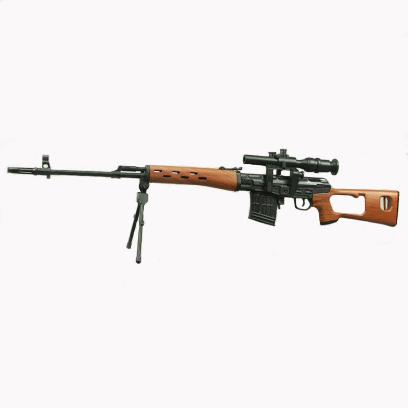 1:3.5 Assemble SVD Gun Model Can not Shoot DIY Gun Metal Alloy Toy Removable Model Sniper Rifle Gun Toy Gift for Children