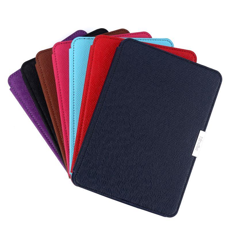 Smart aimant pu étui en cuir pour Amazon Kindle Paperwhite 1 2 3 6 6th 6 génération funda étuis pour Kindle Paperwhite
