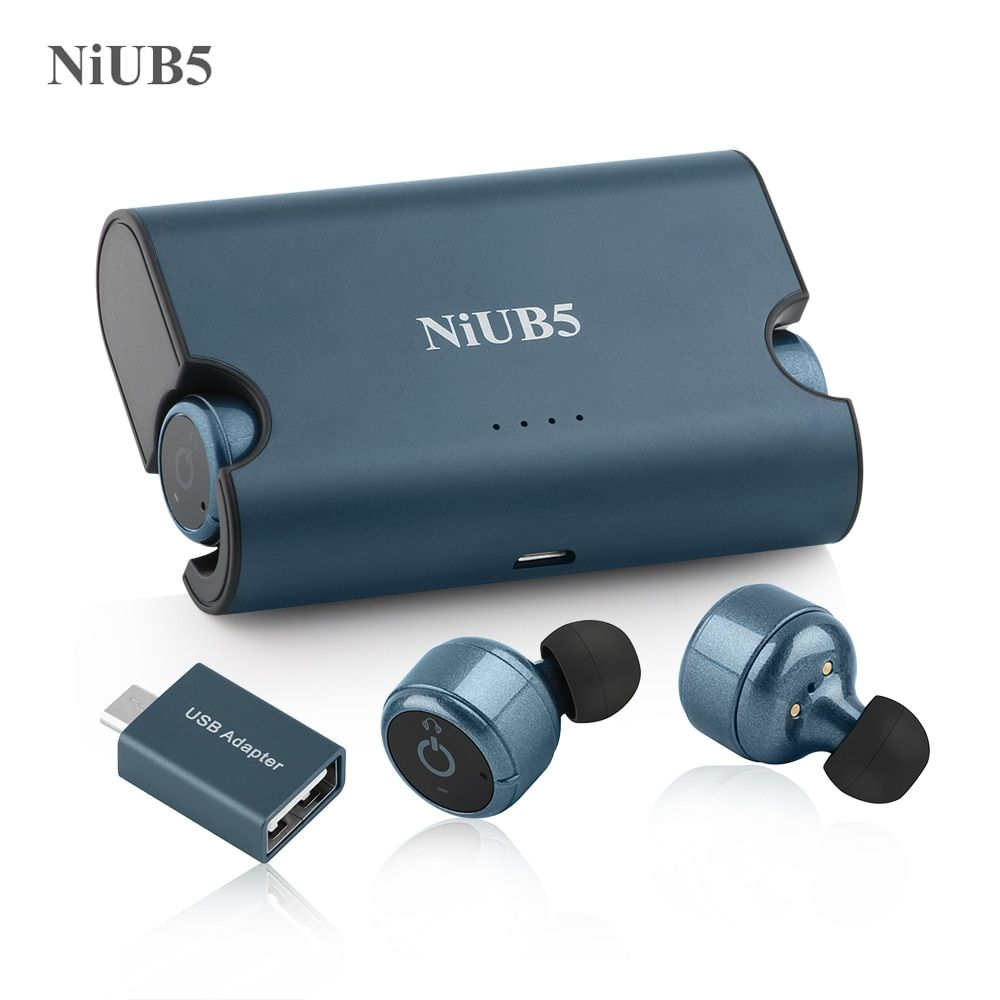NiUB5 X2 Mini Bluetooth Earphone 4.2 Car Call Stereo Earbuds <font><b>Headset</b></font> True Wireless Twins Earphones Built-in Power Bank for Phone