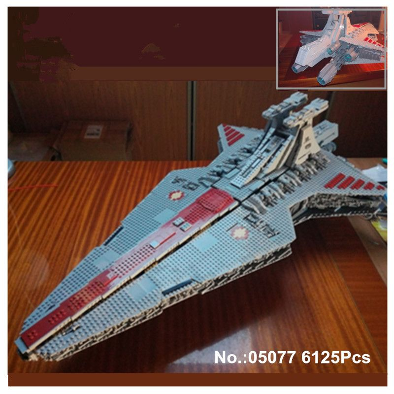 H&HXY IN STOCK 05077 Star 6125Pcs Series Wars The UCS Rupblic Star Destroyer Cruiser ST04 Set Building lepin Blocks Bricks Toys