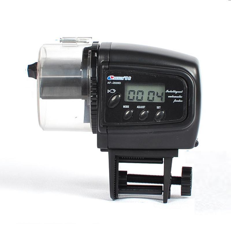AF2009 Digital LCD Automatic Aquarium Food Feeder Fish Tank Battery Automatic Timing Fish Food Supplier For Fish Shrimp