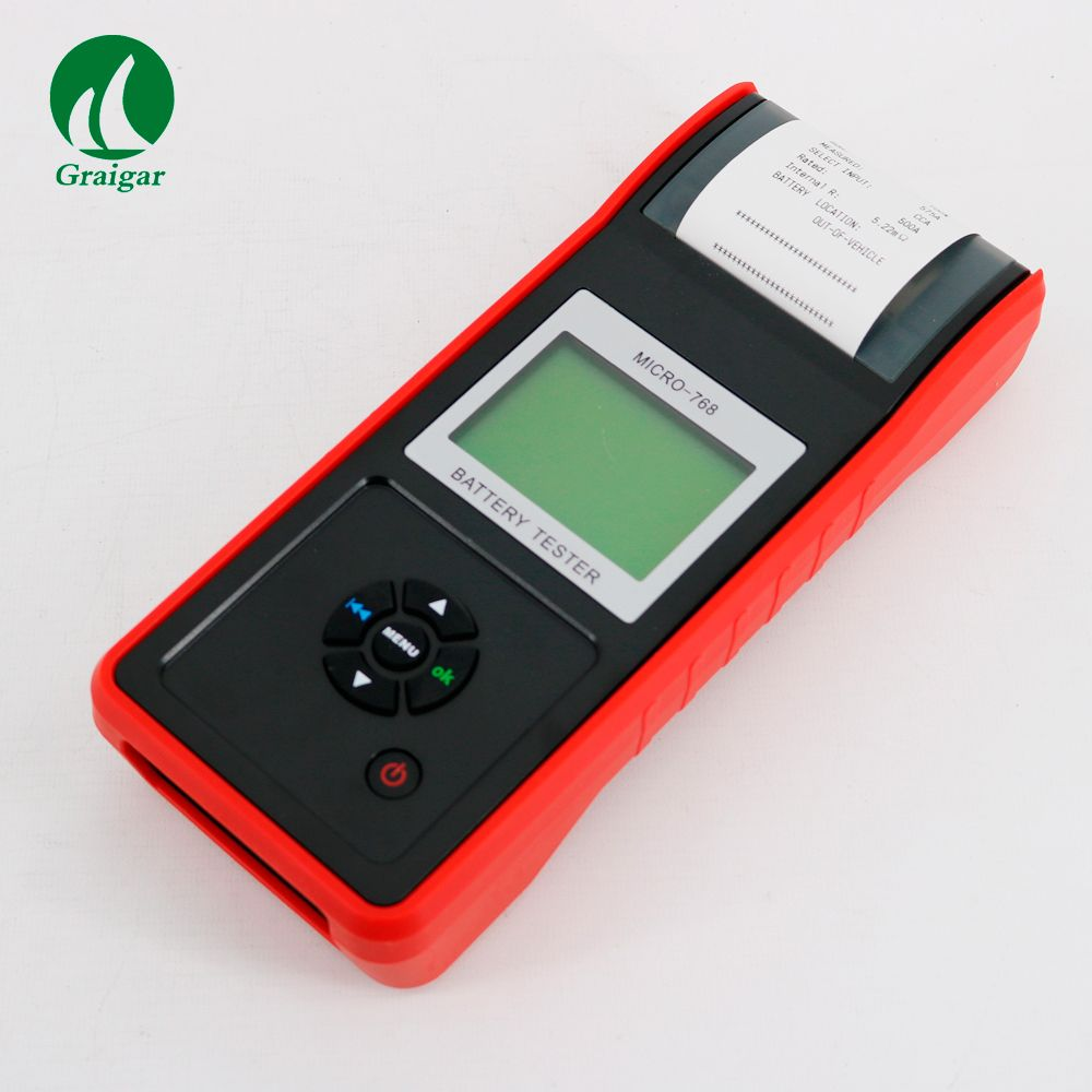 Car Battery Tester with Printer MICRO-768A Auto Battery Tester Vehicle Charging System Testing