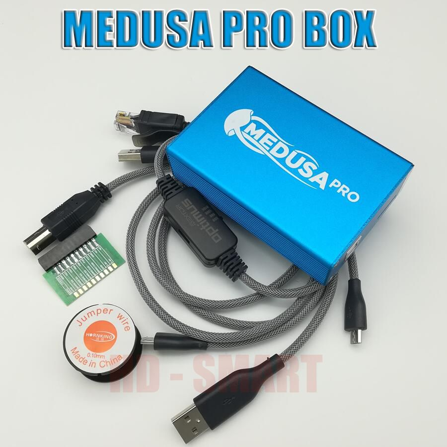 2018 Original new Medusa PRO Box Medusa Box + JTAG Clip MMC For LG For Samsung For Huawei with Optimus cable