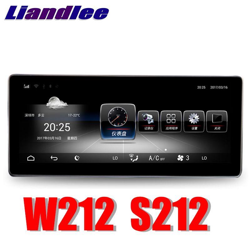 Liandlee Auto Multimedia Player NAVI Für Mercedes Benz MB E klasse W212 S212 E200 E230 2009 ~ 2016 Auto Radio Stereo GPS Navigation