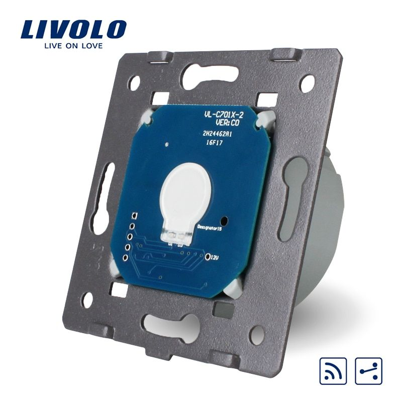 Livolo EU Standard ,1Gang 2 Way, Touch Remote Switch Without <font><b>Glass</b></font> Panel, AC 220~250V + LED Indicator ,VL-C701SR