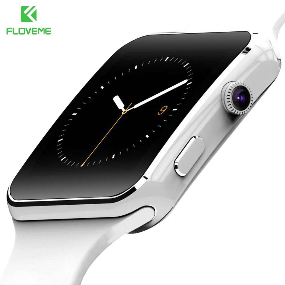 FLOVEME Smart Watch For Xiaomi <font><b>Samsung</b></font> Android Phone Sim Bluetooth Clock Relogio Wristwatch Smart Wearable Devices Smartwatch
