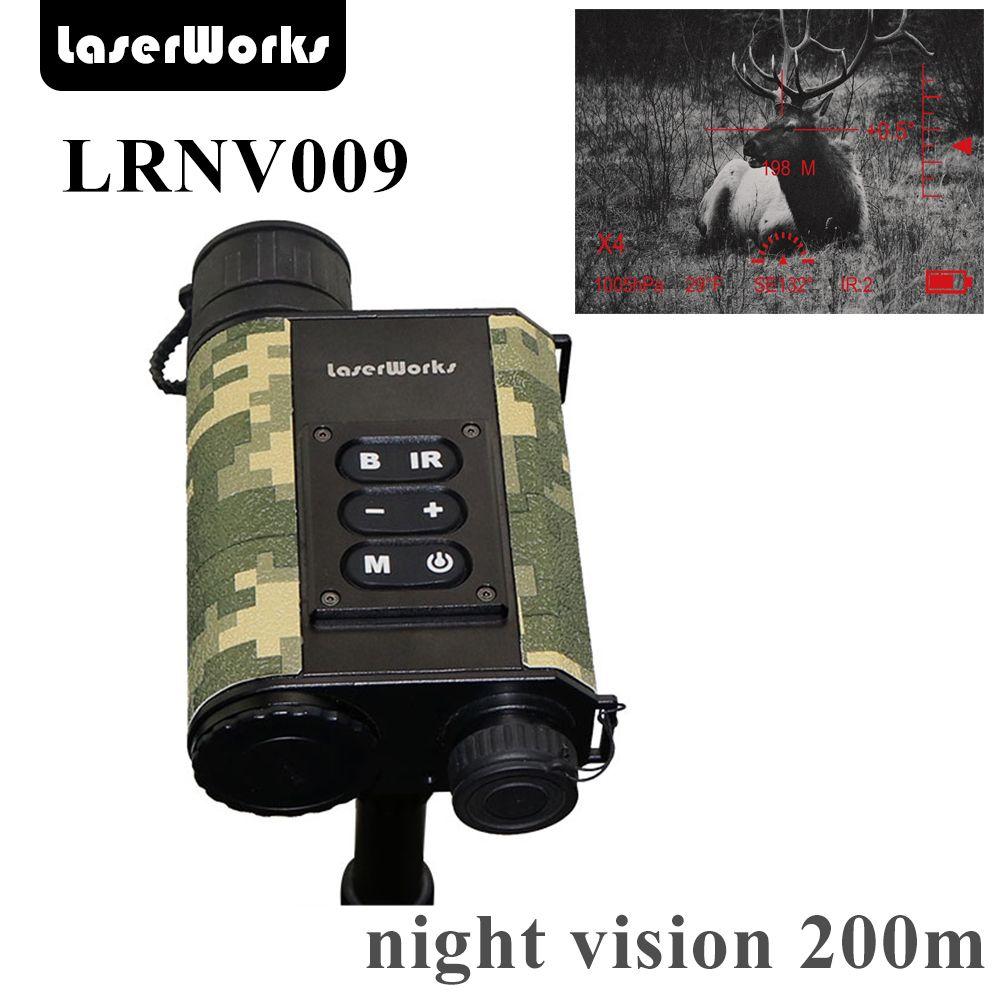LaserWorks Infrared Night Vision LRNV009 6X32 with 500m Laser Rangefinder,480X240 digital clear picture