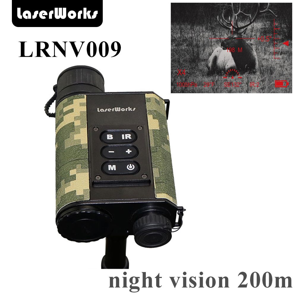 LaserWorks Infrared Night Vision LRNV009 6X32 with 500m Laser Rangefinder,480X240 digital clear picture