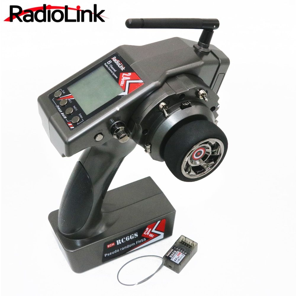 RadioLink RC6GS 2.4G 6CH Rc Car Controller Transmitter + R6FG Gyro Inside Receiver for RC Car Boat (400m Distance)
