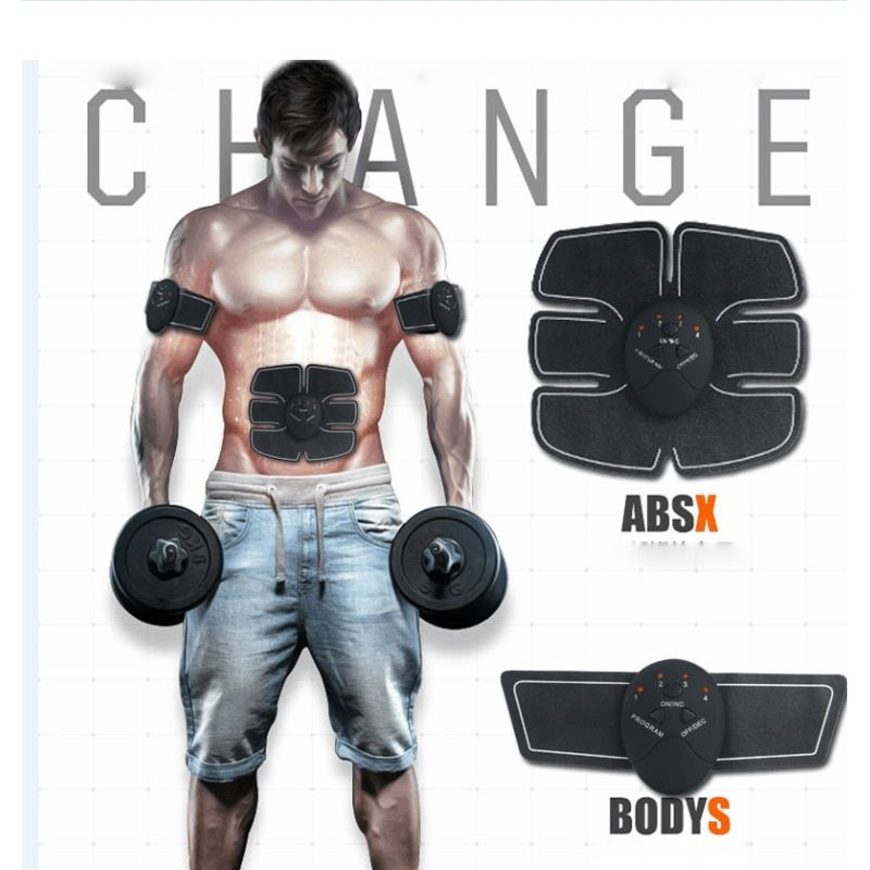 EMS Remote Control Abdominal Muscle Trainer Body Building Home Fit Exercise Fitness Equipment
