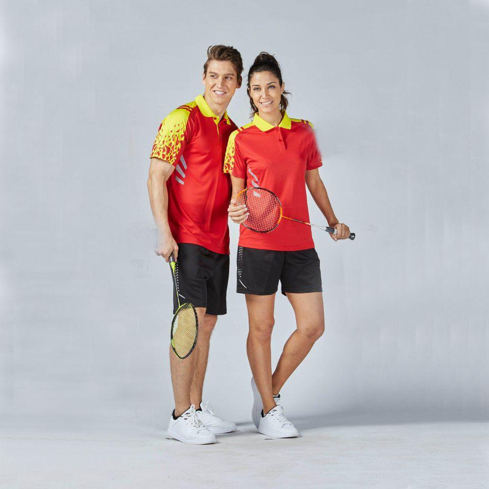 2017 neue Schnell Trocken Männer Frauen Badminton Training Setzt Paar Modell Atmungsaktiv Badminton Shirts Kleidung Korea Tennis Sportbekleidung XL