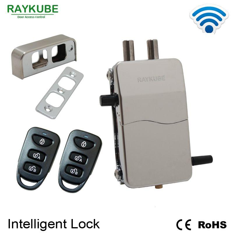 RAYKUBE Wireless Intelligente Fernbedienung Sperren diebstahlsicherung Für Unsichtbare Sperre Elektrische Türschloss Smart Abgewehrt Schloss R-W39