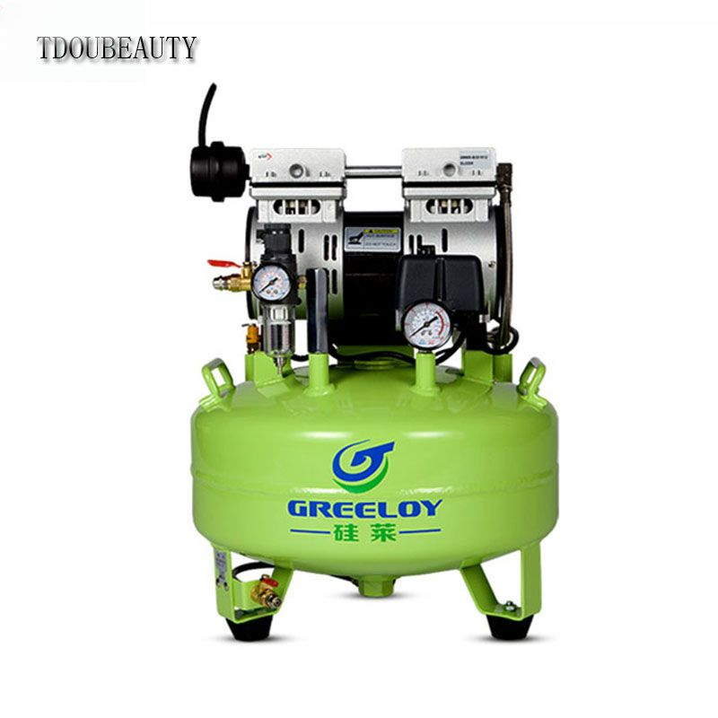TDOUBEAUTY GA-61 dental Noiseless Oil Free Oilless Air Compressor Motors 24L Tank 600W One By One Dental Chair Free shipping