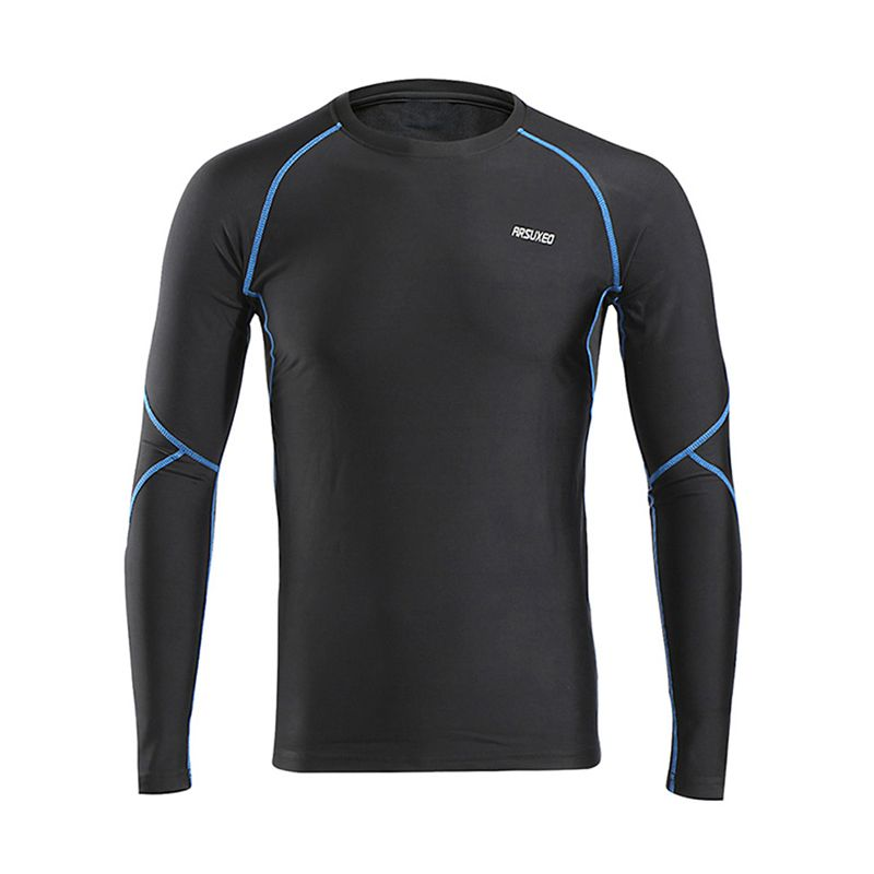 Winter Fleece Sport Shirts Dry Fit Warm UP Men Running T Shirt Long Sleeve Slim Stretch Tights Base Running T-Shirts