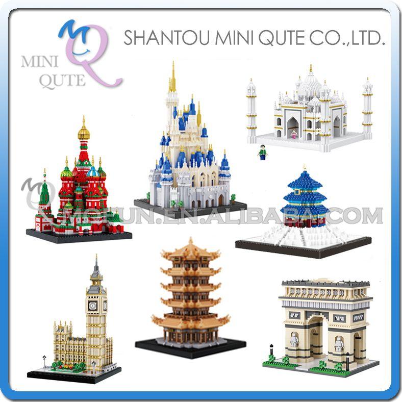 BALODY world architecture Taj Mahal castle Arch of Triumph big ben Saint Basil's Cathedral building blocks model educational toy