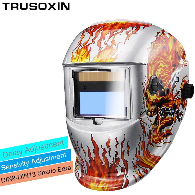 Solar Auto Darkening Electric Wlding Mask/Helmet/Welder Cap/Welding Lens/Eyes Mask for Welding Machine and Plasma Cutting Tool
