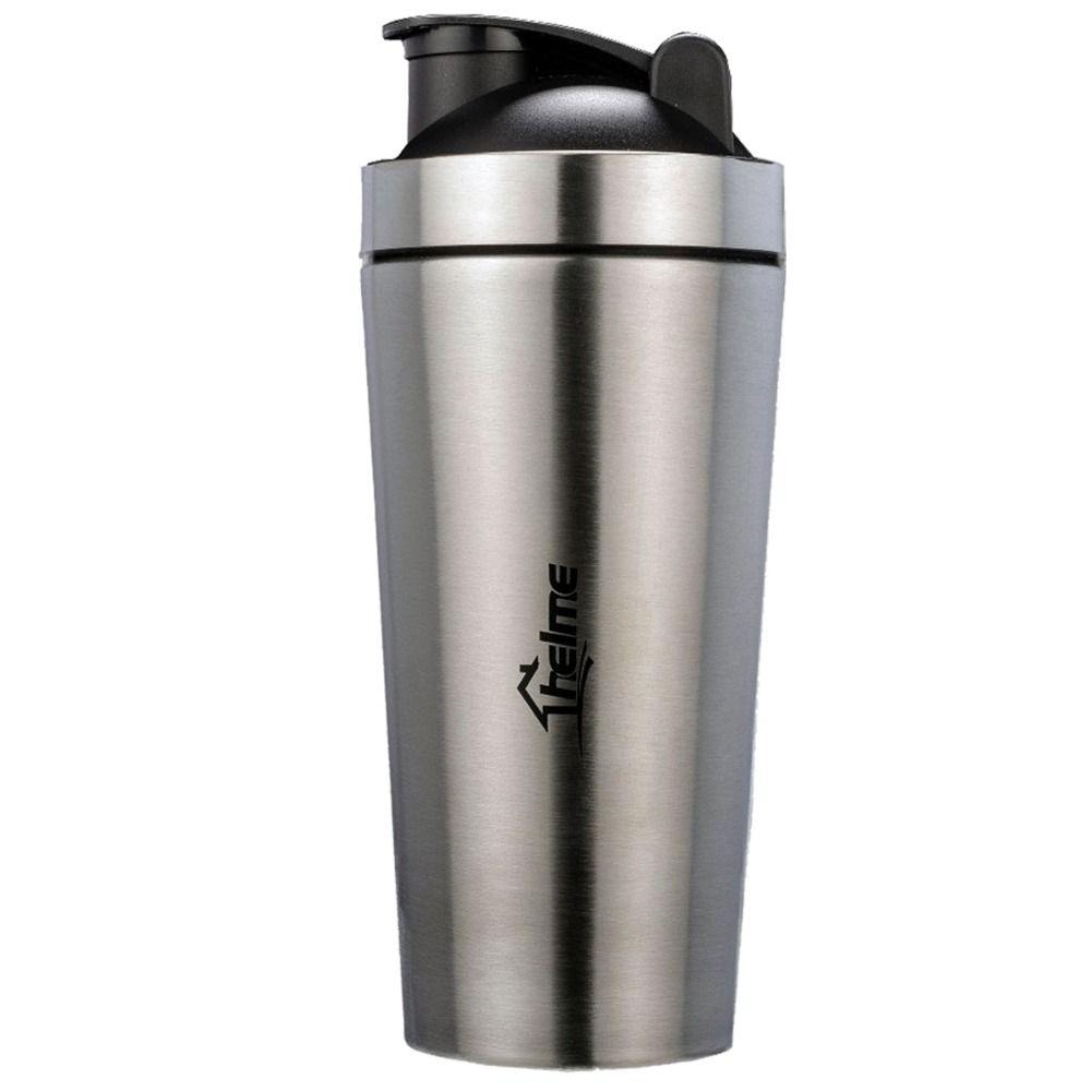 700 мл 304 Нержавеющаясталь двойное/один Слои термос белки Косметическая пудра шейкер блендер Фитнес Офис Спортивная бутылка для воды