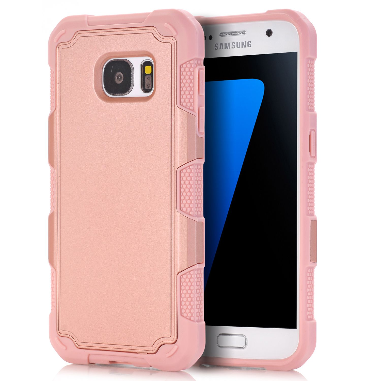 For Samsung Galaxy S7 Case Shockproof Series Drop Protection Hybrid Dual Layer Armor Defender Protective Cover For Galaxy S7